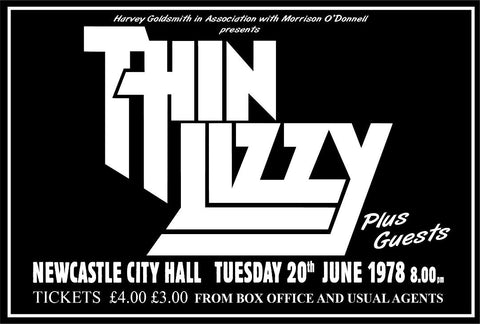 Thin Lizzy - Newcastle City Hall - 1978