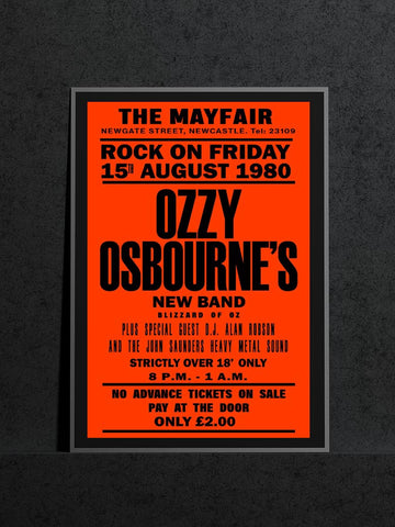 Ozzy Osbourne's Blizzard of Oz - Newcastle Mayfair - 1980