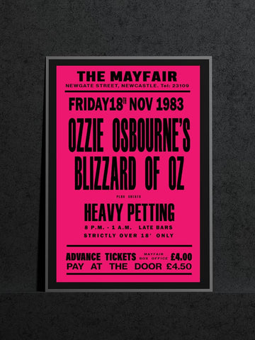 Ozzy Osbourne's Blizzard of Oz - Newcastle Mayfair - 1983