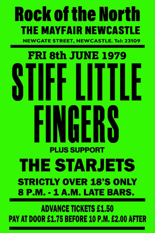 Stiff Little Fingers - Newcastle Mayfair - 1979
