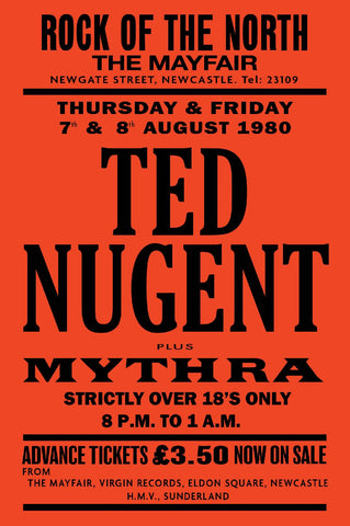 Ted Nugent - Newcastle Mayfair - 1980