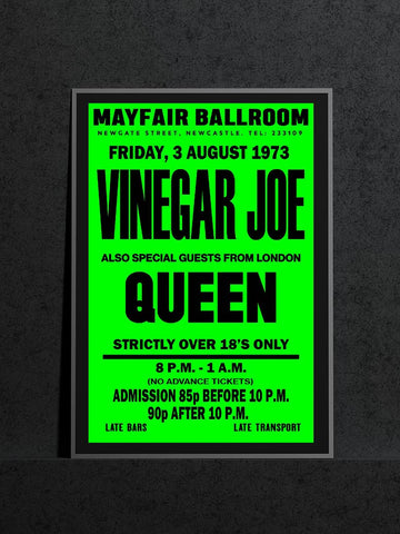 Vinegar Joe (plus Queen) - Newcastle Mayfair - 1973