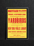 The Yardbirds - Newcastle Mayfair - 1968 (support from New York Public Library)