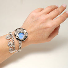 Load image into Gallery viewer, Handmade Moonstone Bangle Bracelet