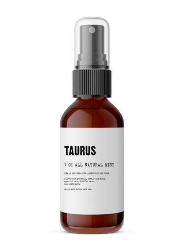Taurus ~ All Natural Essential Oil Meditation Mist