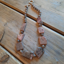 Rhodonite abstract necklace