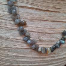 Labradorite and quartz multi tonal necklace