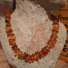 Amber necklace.
