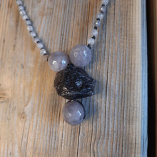 Quartz tonal greys necklace.