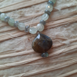 Labradorite pendant necklace.