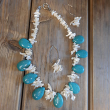Vintage turquoise and mother of pearl necklace.