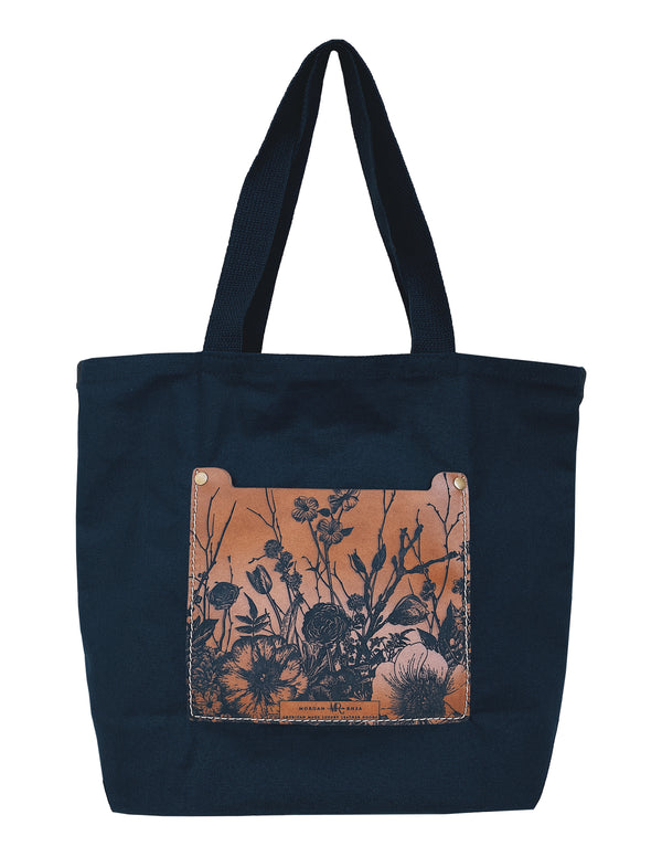 The Copper Floral Canvas Tote