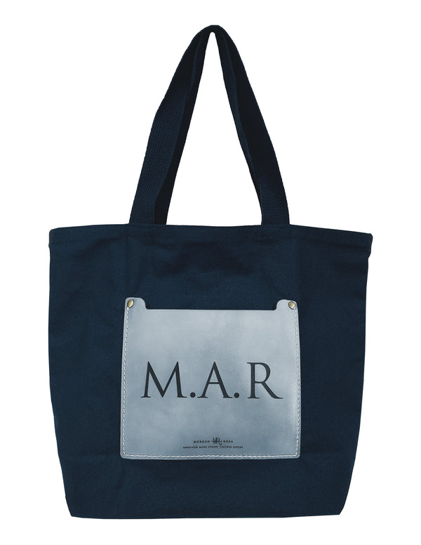 The Cordovan Initial Canvas Tote