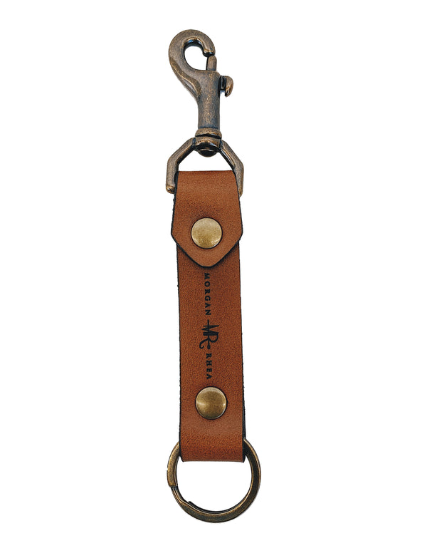 The Copper Swivel Snap Linden Keychain
