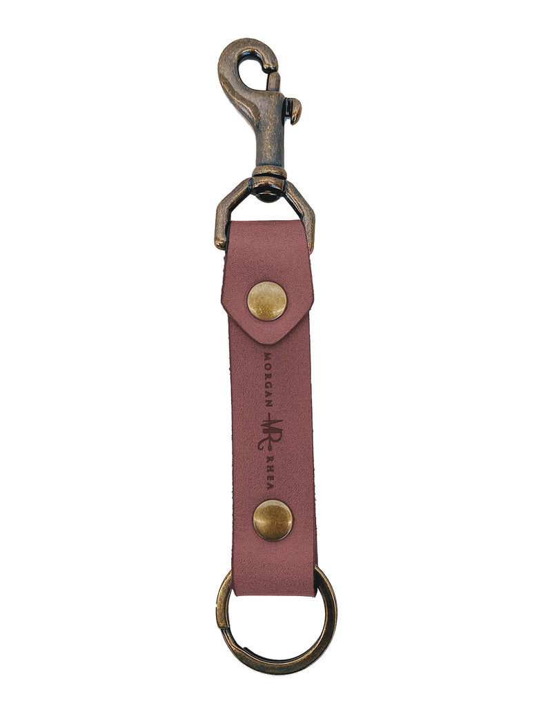 The Cordovan Swivel Snap Linden Keychain