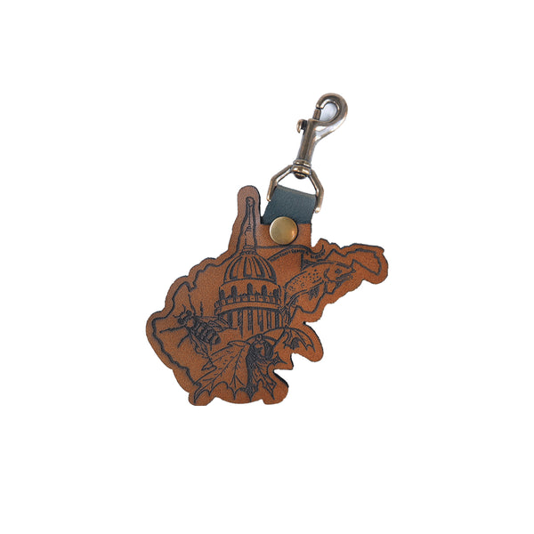 WV Capitol Swivel Snap Keychain