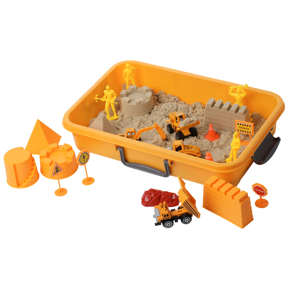 Sensory 20 Piece Tractor Sand Play Set W/ 2 Lbs of Sand