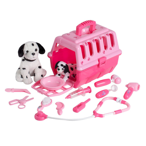 Puppy Vet Kit with 2 Dalmatian Plush Dogs And Tools