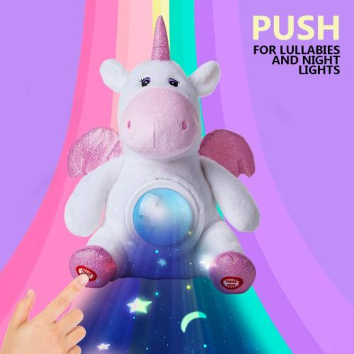 Plush Unicorn Star Projector Night Light
