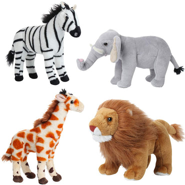 Jungle Animals Toys Set of 4 Wild Animals