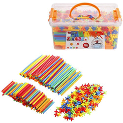 Straw Constructor 800 Pieces Building Set
