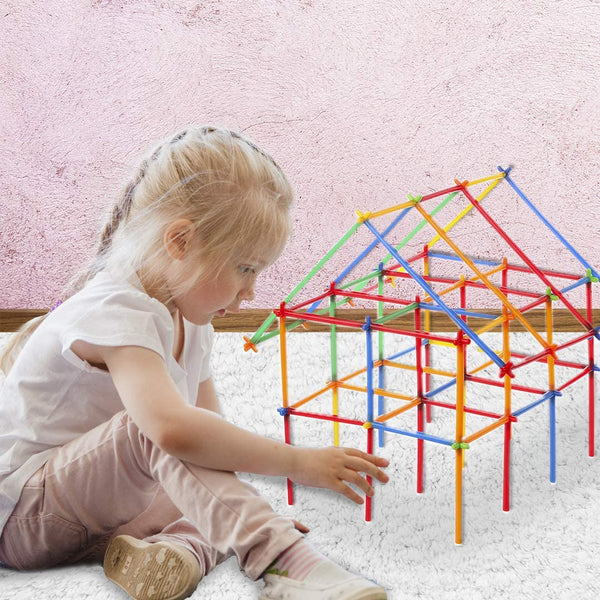 Straw Constructor STEM Construction Building Toy – 800 Pieces