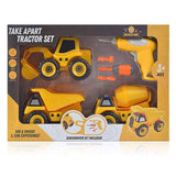 Take Apart Construction Truck Set - Build Your Own Truck Toy with 63 Pieces