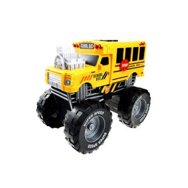 School Bus Monster Truck with Lights and Sounds