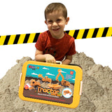 Tractor Sand Play Set, Sensory Toys for Kids W/ 2 Lbs of Sand