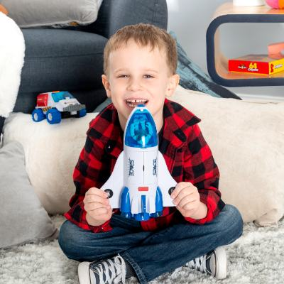 Space Shuttle Toy with 2 Astronauts, Mechanical Arm and Rover