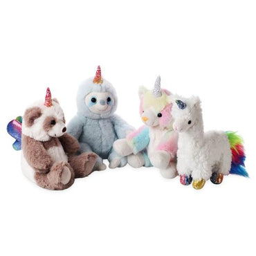 "8"" Plush Unicorn Set (Caticorn, Pandacorn, Llamacorn, Sloticorn)"
