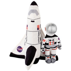 "10"" Stuffed Space Shuttle and Astronaut Plush Toy"