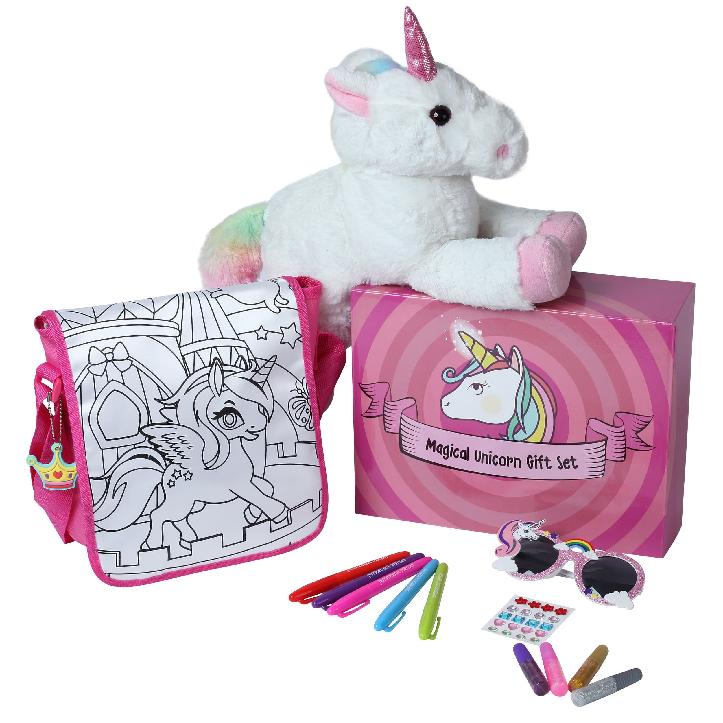 Unicorn 15'' Stuffed Plush Gift Super Set