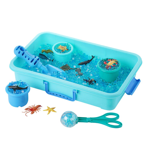 Water Beads 20 Pieces Sensory Sea Animals Set