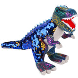 Reversible Sequin Plush Dinosaur - Set of 3