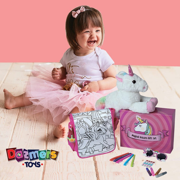Unicorn Plush Toy Gift Set