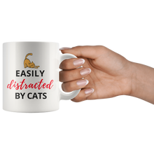 "Load image into Gallery viewer, ""Easily Distracted by Cats"" Mug"