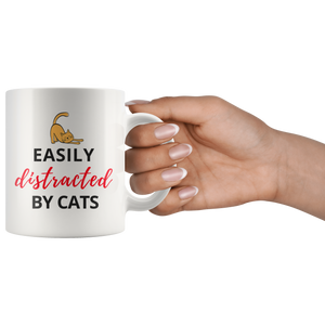 """Easily Distracted by Cats"" Mug"