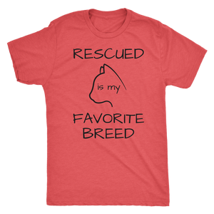 """Rescued is my Favorite Breed"" Graphic Tee"
