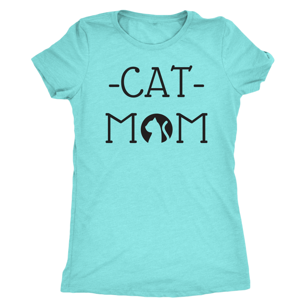 """605c2fa1a ... Graphic Tee; Load image into Gallery viewer, """"Cat Mom"""" ..."""