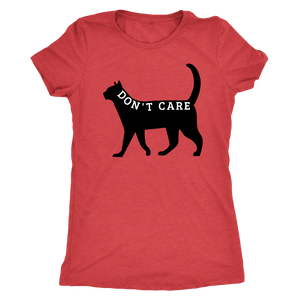 """Don't Care"" Black Cat Shirt"