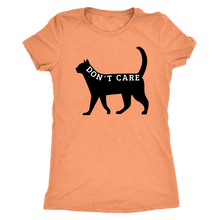 "Load image into Gallery viewer, ""Don't Care"" Black Cat Shirt"