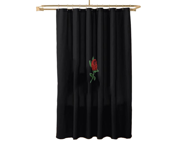 Concrete Rose Shower Curtain - Dopeangels