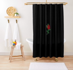 Concrete Rose Shower Curtain - Dope Angels