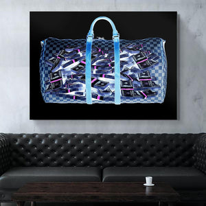 Money Bag Canvas Painting - Dope Angels