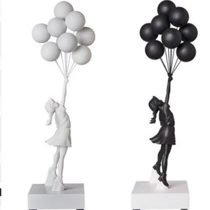Flying Balloon Girl Statue - Dope Angels