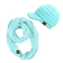 Load image into Gallery viewer, Beach Sugar beanies & scarf sets