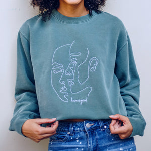 humangood Fleece Crewneck - Green