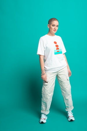 Levels Oversized Cotton Tee - White