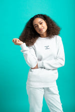Surfaces French Terry Crew Neck - White Heather
